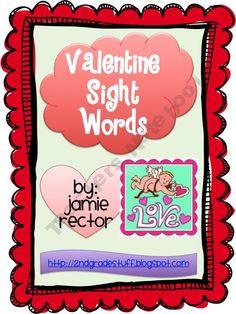 Valentine's Sight Words: 2nd grade