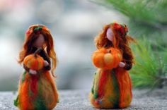 Needle Felted Doll Waldorf  Wool by darialvovsky on Etsy