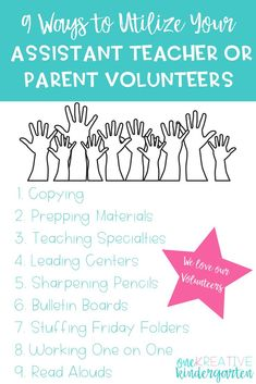 Do you have an assistant teacher or parent volunteers but don't know how to use them? Check out this list and how I use these helpers in my classroom. teaching ideas, teacher assistant, parent volunteers in the classroom, classroom volunteers, classroom Teacher Organization, Teacher Hacks, Teacher Tools, Teacher Resources, Teachers Aide, New Teachers, Creative Teaching, Teaching Tips, Teaching Strategies