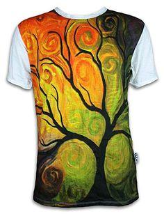 10843bb26b0e88 SURE Herren T-Shirt Der Baum des Lebens Größe M L XL Esoterik Magie  Surreale Kunst Lebensbaum Art  Amazon.de  Bekleidung