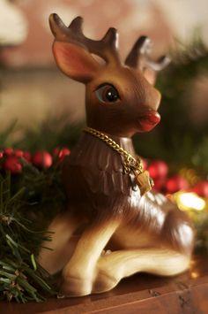 Vintage 1950s plastic reindeer figurine   Flickr - Photo Sharing!