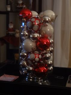 ornaments in glass vase a cat proof christmas decoration possibly christmas cats merry - Christmas Vase Decorations