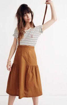 Suspender Midi Skirt