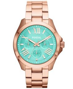Fossil Women's Cecile Rose Gold-Tone Stainless Steel Bracelet Watch 40mm AM4540 - Watches - Jewelry & Watches - Macy's