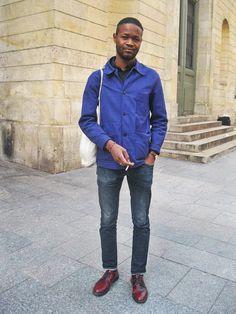 effortless chic-bleu de travail-french work jacket. Ook mijn favo combi.