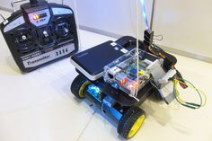 Remote-controlled light painting robot. #raspberrypi #invention #innovation #LED #robot #geek #project