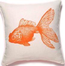 gold fish pillow