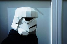 Looking for a Star wars costume? make your own Stormtrooper helmet from  recycled cereal boxes. These plans enable you to turn recycled card into a  full size Stormtrooper helmet. Perfect for fancy dress or as a gift for you  favourite Star Wars fan. Amaze your friends and be the envy of any party.