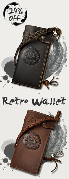 Chinese Ink Style. Vintage Mens Wallet. 24% OFF. 3 Patterns Available. US$29.5 + Free Shipping.