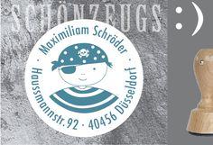Inspiration für den Schulanfang und die Einschulung: Stempel Pirat Max :) personalisiert / inspiration for the first day of school made by Schönzeugs:) via DaWanda.com