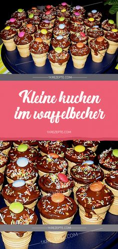 Kleine Kuchen im Waffelbecher - Rezepte Cupcakes in a waffle cup - recipes Easy Smoothie Recipes, Easy Smoothies, Easy Cake Recipes, Good Healthy Recipes, Cupcake Recipes, Cookie Recipes, Coconut Recipes, Pumpkin Spice Cupcakes, Food Cakes
