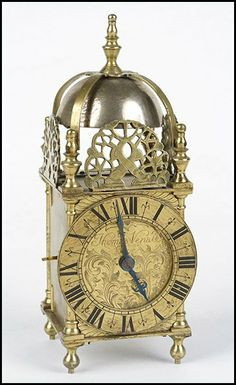 19TH CENTURY ENGLISH LANTERN CLOCK. : Lot 1332004