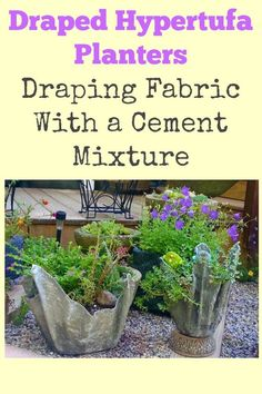 I had no idea you could make these yourself! DIY draped hypertufa planters