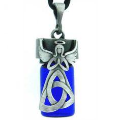 Celtic Angel Glass Vial for Ashes