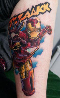 Iron Man Tattoo #ironman #comictattoos #comics #marveltattoos #ironmantattoo #tattoos