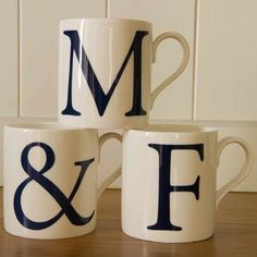 Alphabet Initial Mugs - Set of Three 4763D Alphabet Initial and Ampersand Mugs - Set of ThreeIf you are looking for that special Anniversary gift or Wedding present, this beautiful set of initial mugs are perfect.The set includes two letter mu http://www.MightGet.com/january-2017-13/unbranded-alphabet-initial-mugs--set-of-three-4763d.asp