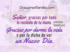 Oraciones de Familia: Oración de Gracias y petición de Bendición en este...