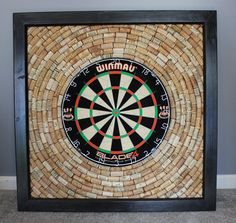 Wine Cork Dartboard Backer  Game Room Décor  by OldDogOriginals