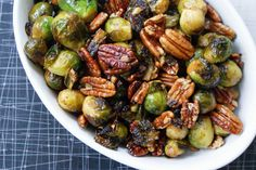 Brussels Sprouts with Maple Buttered Pecans