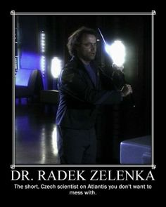 :-) David Nykl is a Canadian actor of Czech origin. Today, it is mainly known as Dr. Zelenka from the television series Stargate Atlantis.