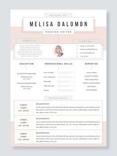 Professional Resume Templates / CV Templates / Resume by ResumeAngels Resume Tips, Resume Cv, Resume Examples, Resume Ideas, Cv Ideas, Unique Resume, Creative Resume, Cv Template, Resume Templates