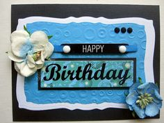 Handmade Birthday card beautiful blue for by BellaCardCreations, $4.50