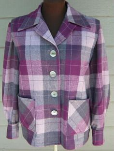 Knock-off Pendleton jacket, OOP McCall's wool from Pendleton Mill Outlet, Washougal 1950s Fashion, Fashion Art, Fashion Beauty, Vintage Fashion, Fashion Trends, Vintage Clothing, Vintage Outfits, Cool Outfits, Casual Outfits
