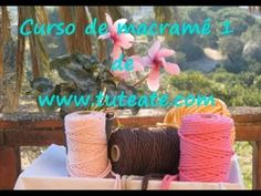 Free Online Macrame Course: Learn How to Make Decorative Knots (PART by Tuteate Micro Macrame Tutorial, Decorative Knots, Macrame Bag, Macrame Bracelets, Micro Macramé, Macrame Projects, Paracord, Diy And Crafts, Projects To Try