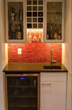 Ikea Home Wetbar  DIY Video http://www.thisoldhouse.com/toh/video/0,,20474554,00.html - I think I would like to install a fridge like this.
