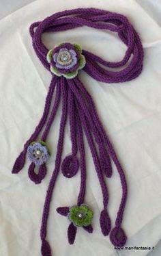 collana scaldacollo all'uncinetto. #idee #crochet #uncinetto