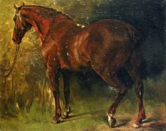 """Gustave Courbet     """"The English Horse of M. Duval"""""""
