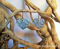 Boucles d'oreilles vintage coeur tourbillons : Boucles d'oreille par creationdeco