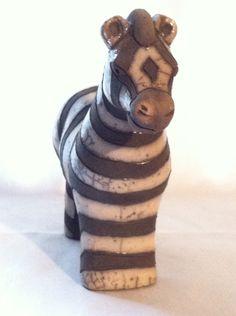 Ceramic Zebra Figurine by iLikeEclectic on Etsy