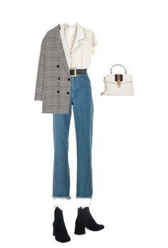 Teen Fashion Outfits, Mode Outfits, Retro Outfits, Cute Casual Outfits, Look Fashion, Stylish Outfits, Korean Fashion, Fall Outfits, Winter Fashion