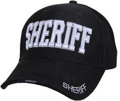 Black Sheriff Law Enforcement Adjustable Low Profile Cap | 99385 | $10.99