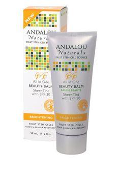 Andalou Beauty Balm Sheer Tint with SPF 30  #crueltyfree #noanimaltesting #beauty #haircare