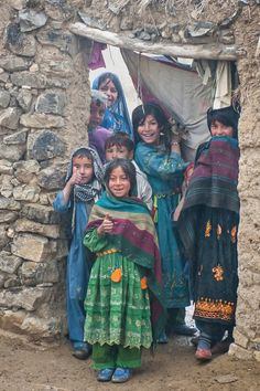"""Some towns we patrolled through - the children were thrilled to see us - like these kids who gave me the """"thumbs up"""" when I pointed my camera at them. This was in a village somewhere near FOB Salerno."""