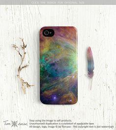 Galaxy iPhone 4 case, galaxy iPhone 4 / 4s case, iphone 5 case, case for iphone 4 4s 5 nebula starry surreal rainbow iphone4 case (c137) via Etsy