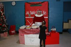 Breakfast with Santa - Reindeer Food Bar - ran by Mrs. Claus.  Make reindeer food for Christmas Eve.  PTO event