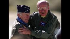 Chuck Yeager and Bob Hoover.  Two living legends!