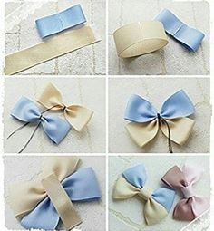 how to make hair bow accessories by terry Ribbon Hair Bows, Diy Hair Bows, Diy Bow, Diy Ribbon, Ribbon Crafts, Cheer Hair Bows, Handmade Hair Bows, Fabric Bows, Fabric Flowers