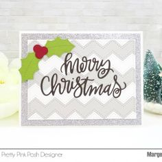 """Marge(@marge.crafts): """"Hello, I made two cards using only dies from @prettypinkposh . No stamps or inks at all . I used…"""""""