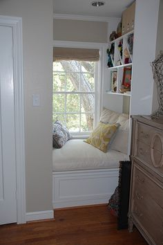 a cozy nook in a bedroom....