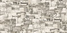 Pinboard (PB01-CHARCOAL) - Andrew Martin Wallpapers - A fun, contemporary montage design showing a pinboard with different postcards and photo's- shown here in grey, white and black. Other colourway  available. Please request a sample for a true colour match. Paste the wall product.