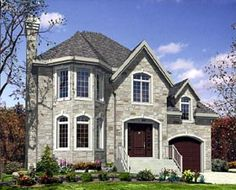 Narrow Lot   Victorian   House Plan 48148