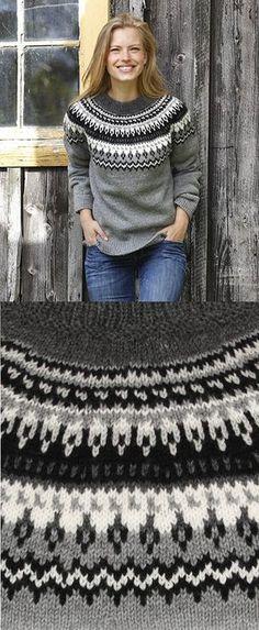Free Knitting Pattern for a Women's Sweater Night Shades – Knitting patterns, knitting designs, knitting for beginners. Baby Knitting Patterns, Lace Knitting, Knitting Designs, Knitting Sweaters, Women's Sweaters, Crochet Patterns, Sweater Patterns, Fair Isle Sweaters, Sewing Patterns
