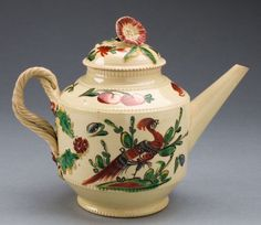 England, Leeds, Teapot, c. 1770 Lead-glazed earthenware