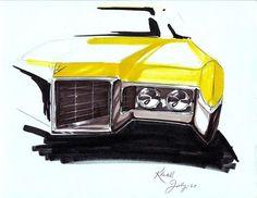 OG | GM first female passenger-car designer Joan Klatil | Cadillac design sketch dated 1961