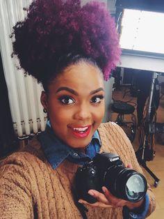 118 Best Purple Natural Hair Images Hairdos Natural Hair Purple