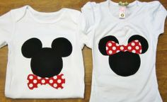 Mickey Minnie Matching Brother/Sister Shirts or onesies any size newborn to 6 toddler